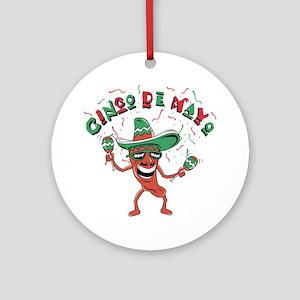 Cinco de Mayo Chili Pepper Ornament (Round)