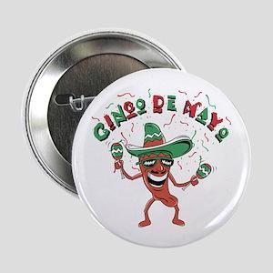 """Cinco de Mayo Chili Pepper 2.25"""" Button"""