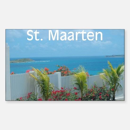 St. Maarten Seascape-1 Rectangle Decal