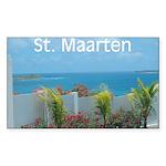 St. Maarten Seascape-1 Rectangle Sticker