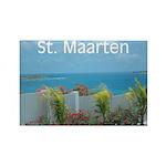 St. Maarten Seascape-1 Rectangle Magnet (100 pack)