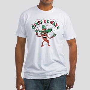 Cinco de Mayo Chili Pepper Fitted T-Shirt