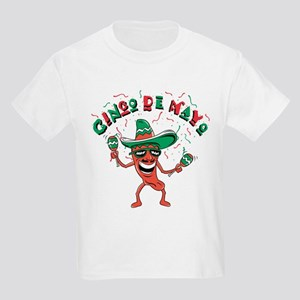Cinco de Mayo Chili Pepper Kids Light T-Shirt