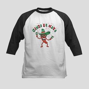 Cinco de Mayo Chili Pepper Kids Baseball Jersey