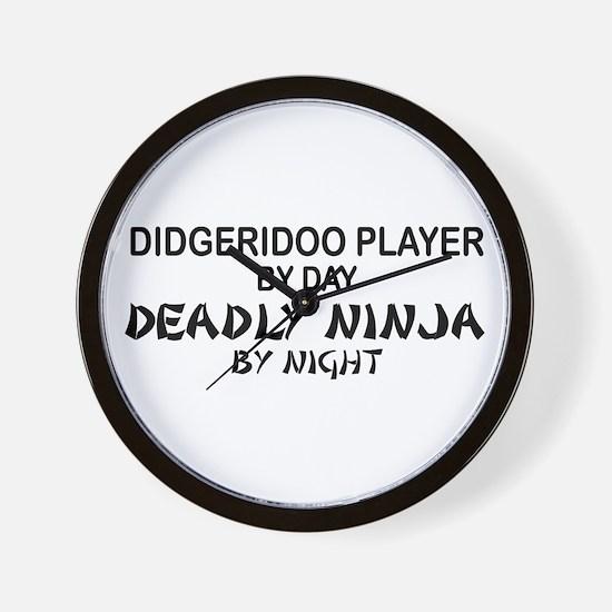 Didgeridoo Deadly Ninja Wall Clock