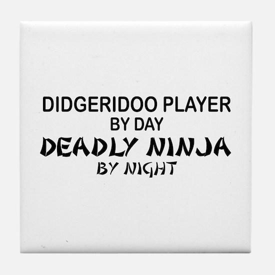 Didgeridoo Deadly Ninja Tile Coaster