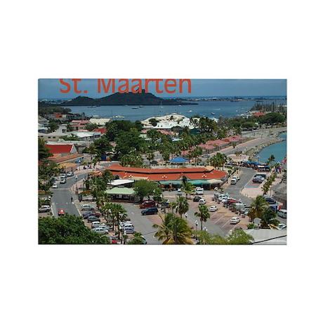 St. Maarten-Downtown by Khonc Rectangle Magnet