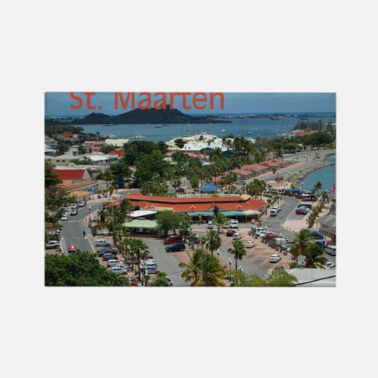 St. Maarten-Downtown by Khonc Rectangle Magnet
