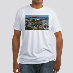 St. Maarten-Downtown by Khonc Fitted T-Shirt
