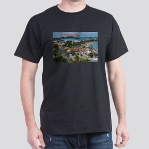 St. Maarten-Downtown by Khonc Dark T-Shirt