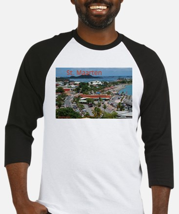 St. Maarten-Downtown by Khonc Baseball Jersey
