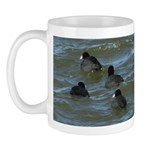 Coots in Rough Water Mug