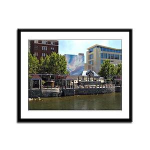 Reno Riverwalk on the Truckee Framed Panel Print
