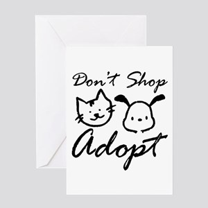 Don't Shop, Adopt Greeting Card