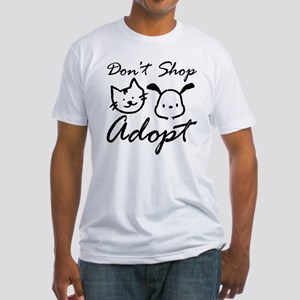 Don't Shop, Adopt Fitted T-Shirt
