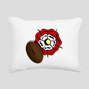 England Rose Rugby Rectangular Canvas Pillow