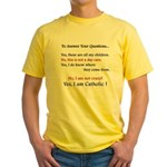 Questions? Yellow T-Shirt