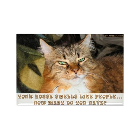 Funny Cat Rectangle Magnet