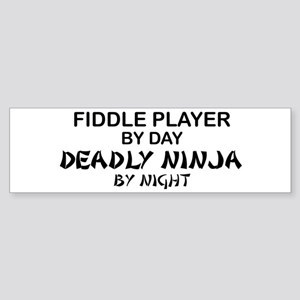Fiddle Player Deadly Ninja Bumper Sticker