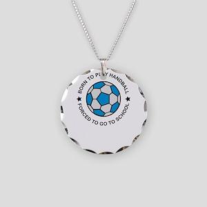 handball Necklace Circle Charm
