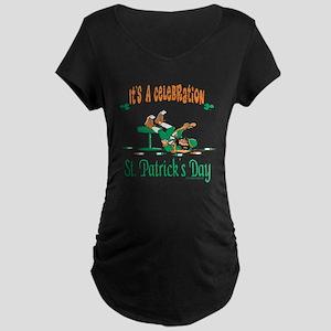 St. Patrick's Day Maternity Dark T-Shirt