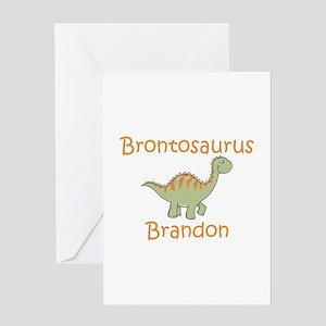 Brontosaurus Brandon Greeting Card