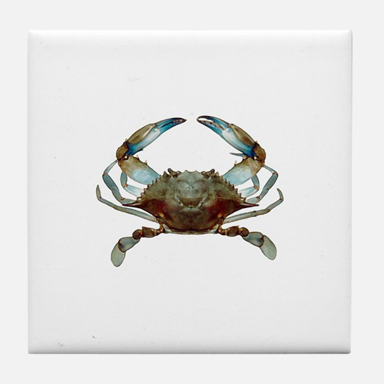 Cute Blue crabs Tile Coaster