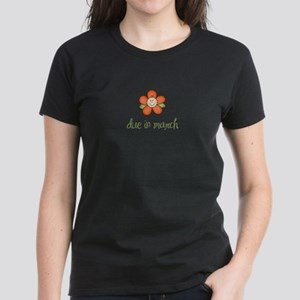 Due in March Baby Flower Women's Dark T-Shirt