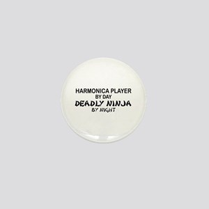 Harmonica Deadly Ninja Mini Button