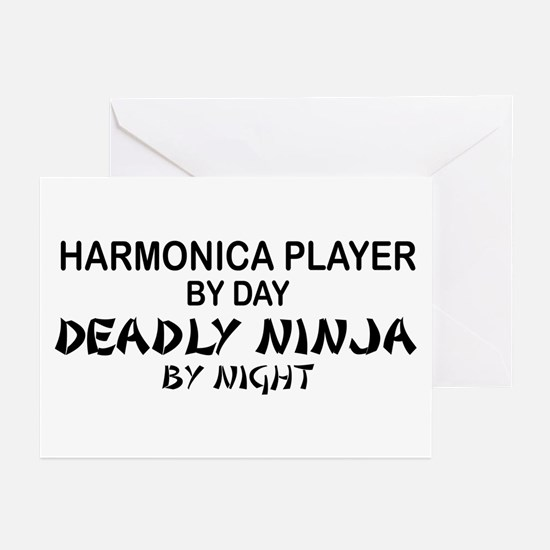 Harmonica Deadly Ninja Greeting Cards (Pk of 10)
