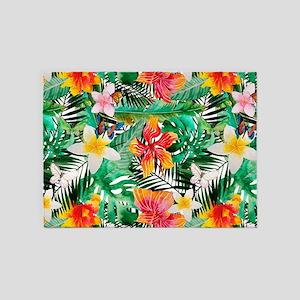 Tropical Aloha Jungle Pattern 5'x7'Area Rug
