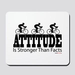 Attitude is Stronger Cycling Mousepad