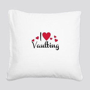 vaulting Square Canvas Pillow