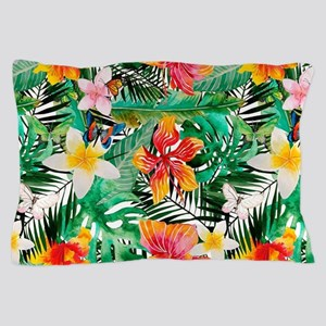 Tropical Aloha Jungle Pattern Pillow Case