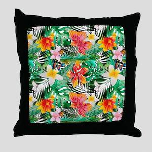 Tropical Aloha Jungle Pattern Throw Pillow