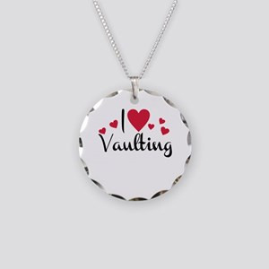 vaulting Necklace Circle Charm