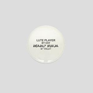 Lute Player Deadly Ninja Mini Button