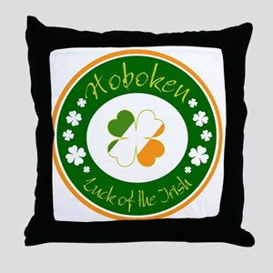 Luck of the Irish (Hoboken) Throw Pillow