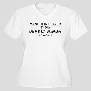 Mandolin Player Deadly Ninja Women's Plus Size V-N