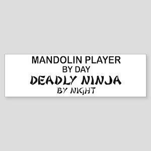 Mandolin Player Deadly Ninja Bumper Sticker