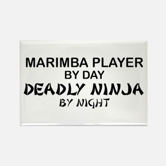 Marimba Player Deadly Ninja Rectangle Magnet