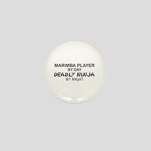 Marimba Player Deadly Ninja Mini Button