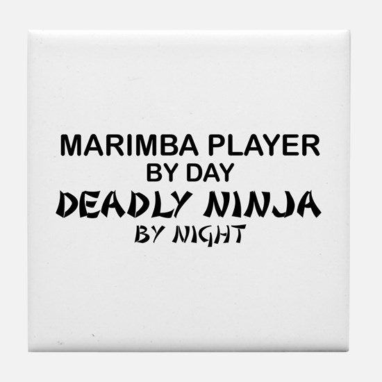 Marimba Player Deadly Ninja Tile Coaster