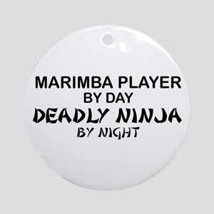 Marimba Player Deadly Ninja Ornament (Round)