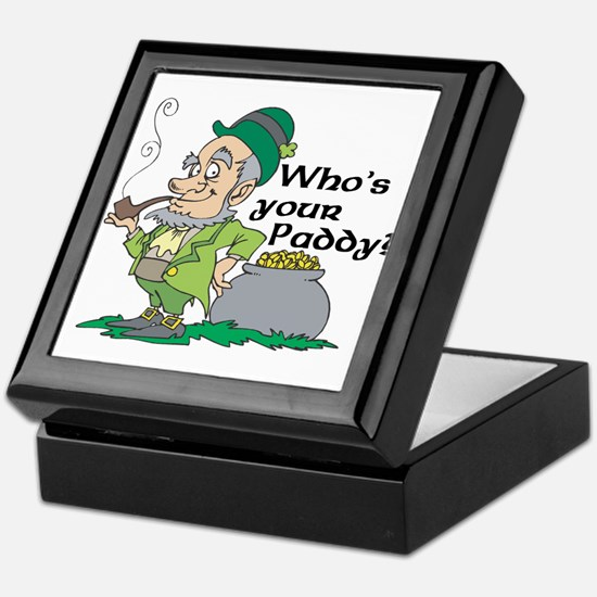 Who's Your Paddy Leprechaun Keepsake Box