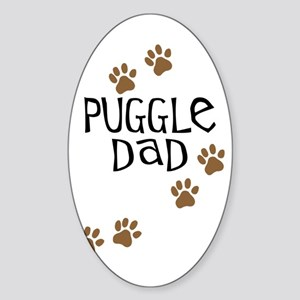 Puggle Dad Oval Sticker