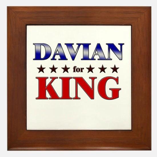 DAVIAN for king Framed Tile