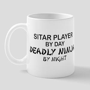 Sitar Player Deadly Ninja Mug