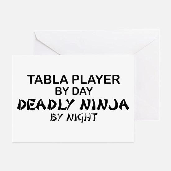 Tabla Player Deadly Ninja Greeting Cards (Pk of 10