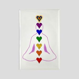 Chakras - Hearts Rectangle Magnet